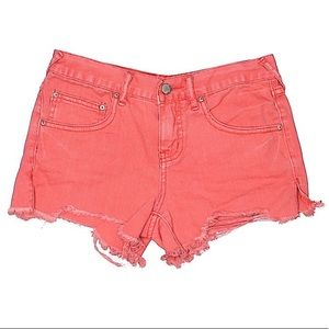 Free People Colored Jean Shorts